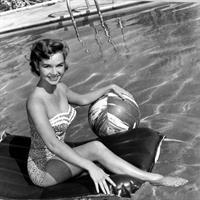 Debbie Reynolds in a bikini