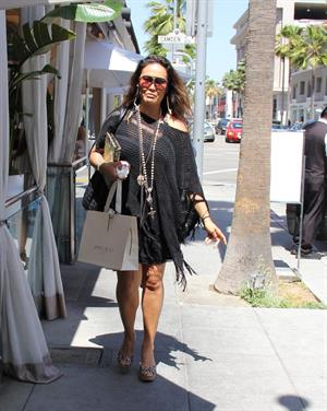 Tia Carrere Shopping at Jimmy Choo in Beverly Hills 02.05.13