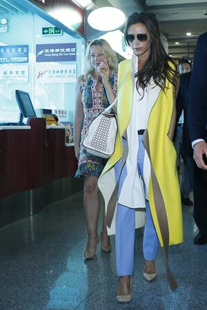 Victoria Beckham - Touches down in Beijing on June 21, 2013