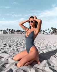 Francesca Farago in a bikini