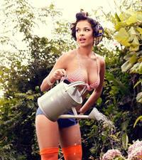 Michelle Martins in a bikini