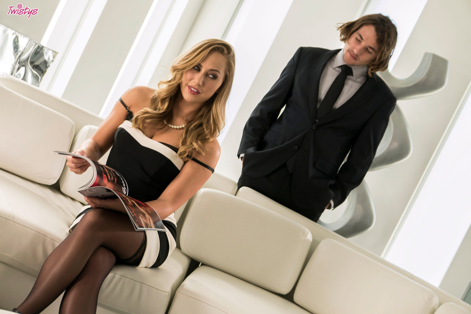 Sexy Blondie And Her Lover.. featuring Carter Cruise   Twistys.com