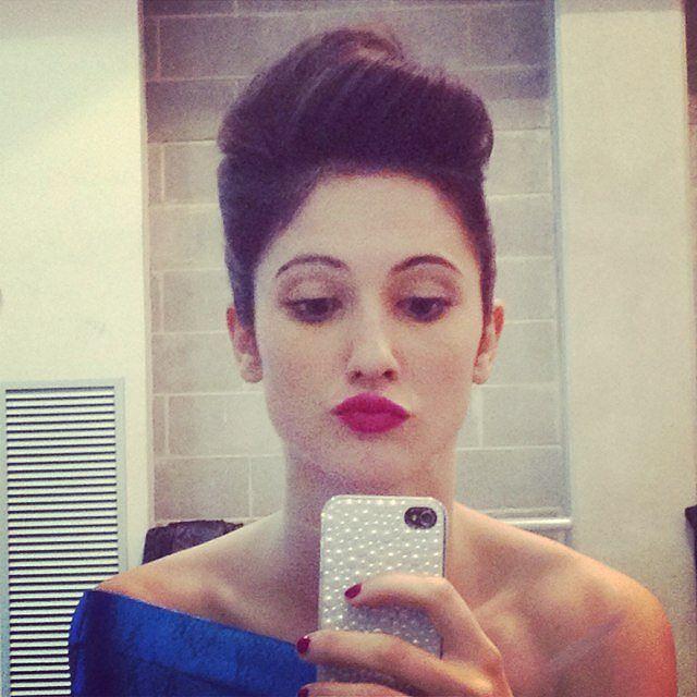 Lodovica Comello taking a selfie