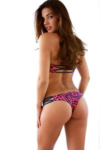 Jessica Ashley modeling bikinis before the implants
