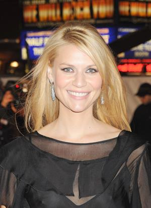 Claire Danes at the Me & Orson Welles premiere - showing nipple through see through blouse