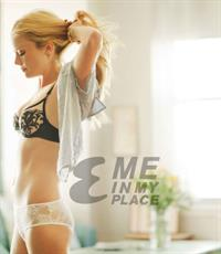 Claire Coffee in lingerie