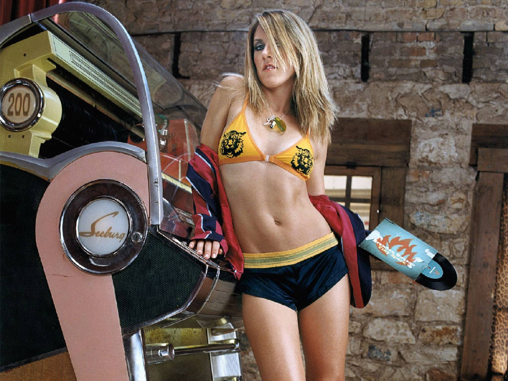 Liz Phair in a bikini