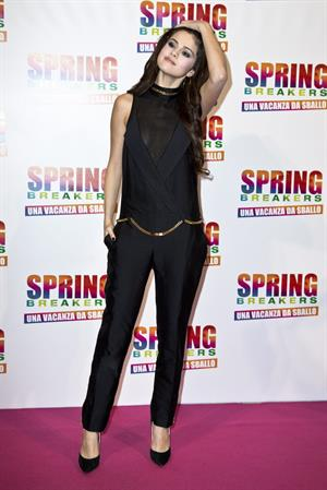 Selena Gomez Premiere of Spring Breakers at Adriano Cinema in Rome on February 22, 2013