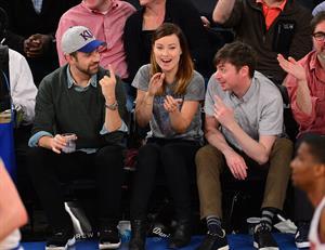 Olivia Wilde - Raptors vs Knicks game in NYC 3/23/13