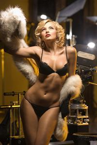 Marjorie de Sousa in lingerie