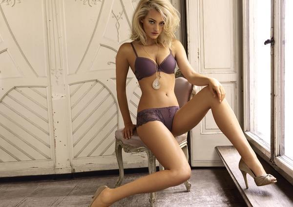 Nadine Strittmatter in lingerie