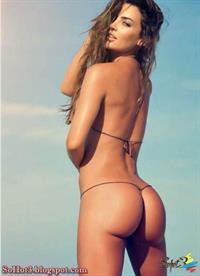 Natalia Vélez in a tiny string bikini