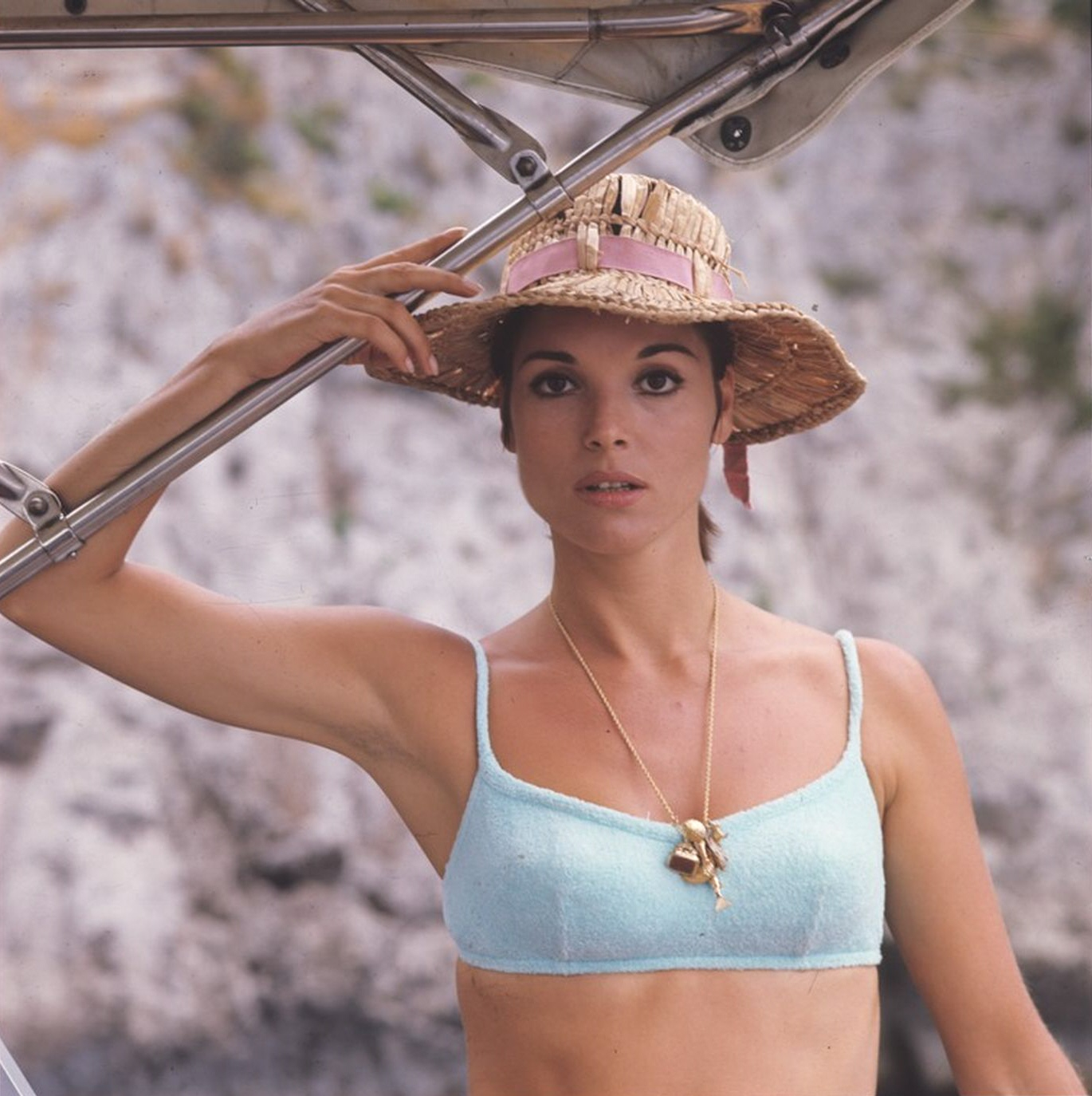 Elsa Martinelli in a bikini