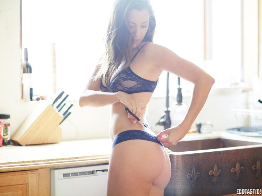 Carly Craig in lingerie - ass