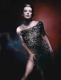 Milla Jovovich in a bikini