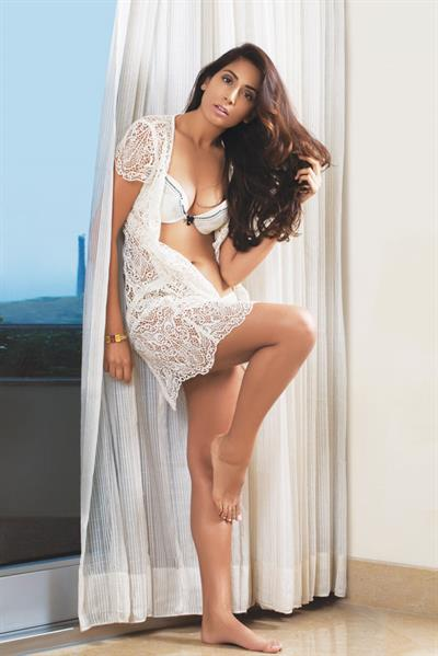 Monica Dogra in lingerie