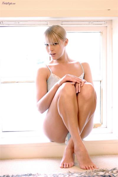 Abigail Toyne in lingerie