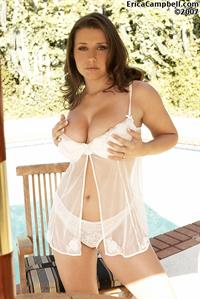 Erica Campbell in lingerie