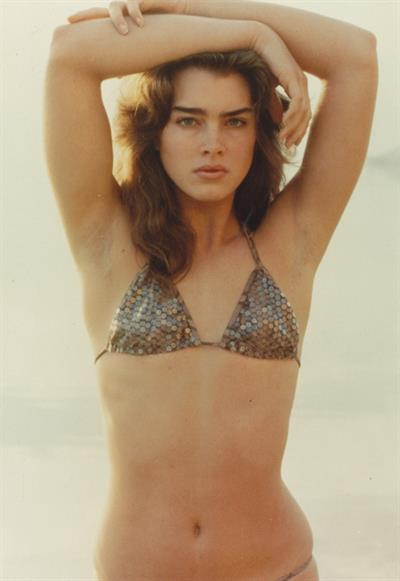 Brooke Shields in a bikini