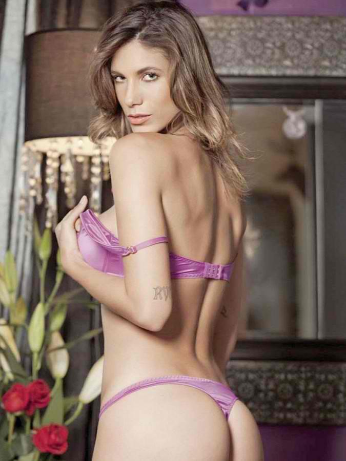 Bruna Goncalves in lingerie - ass