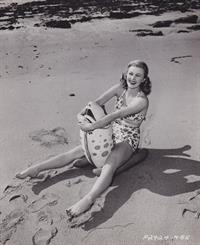 Joan Caulfield in a bikini
