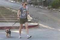Natalie Portman – walking her dog in LA 8/16/13