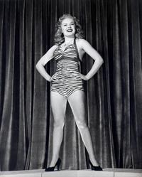 June Haver in a bikini