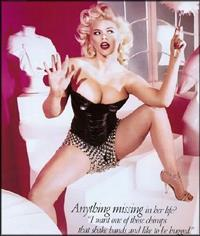 Anna Nicole Smith in lingerie